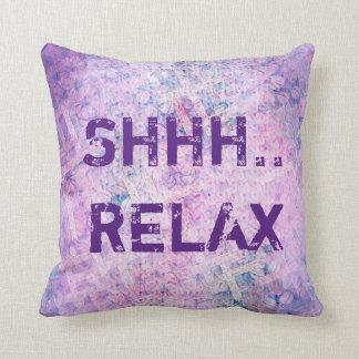 Almofada SHHH… RELAXE o travesseiro decorativo floral