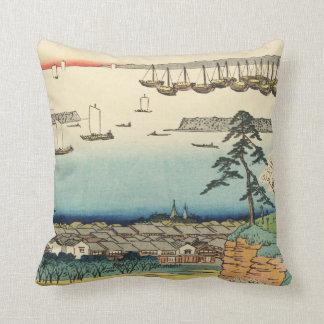 Almofada Shinagawa, Japão: Impressão de Woodblock do