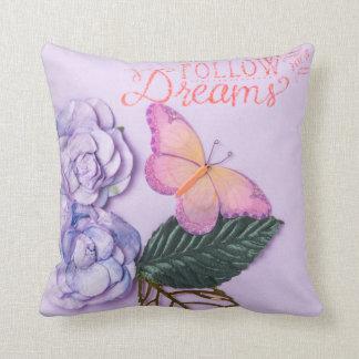 Almofada Siga seu travesseiro decorativo dos sonhos