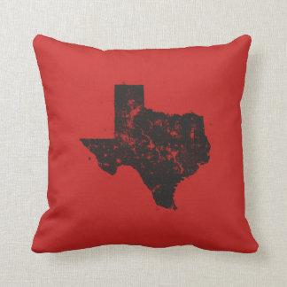 Almofada Silhueta do mapa do estado do vintage de Texas