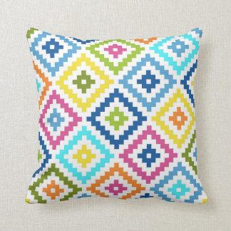 Almofada Símbolo asteca Ptn grande do bloco colorido