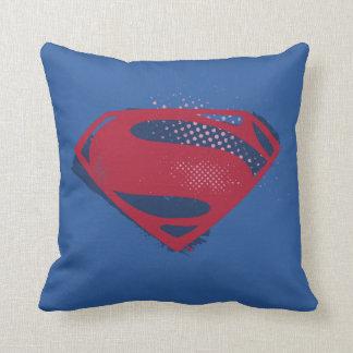 Almofada Símbolo do superman da escova & da reticulação da