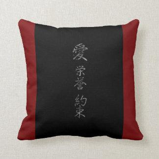 Almofada Símbolo japonês: Promessa da honra do amor