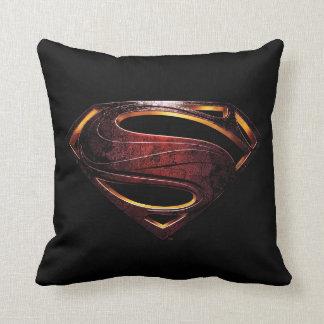 Almofada Símbolo metálico do superman da liga de justiça |