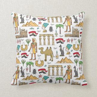 Almofada Símbolos da cor do teste padrão de Egipto