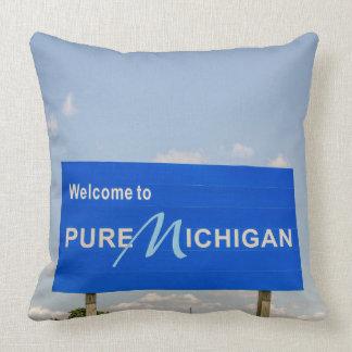 Almofada Sinal de boas-vindas puro de Michigan