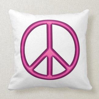 Almofada Sinal de paz cor-de-rosa