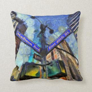 Almofada Sinal de rua Van Gogh de New York