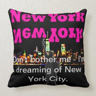 Almofada Skyline Manhattan de New York do travesseiro do