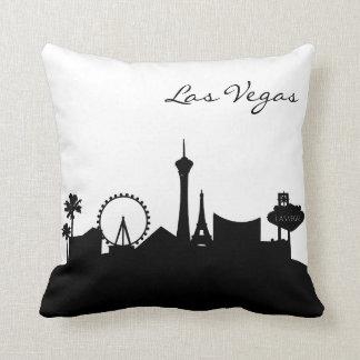 Almofada Skyline preto e branco de Las Vegas