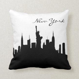 Almofada Skyline preto e branco de New York