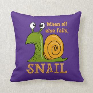 Almofada Snailing, quando todo o outro falhar