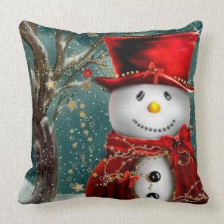 Almofada Snowmans bonitos - ilustração do boneco de neve