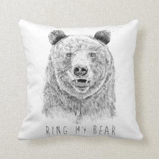 Almofada Soe meu urso (bw)