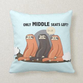 "Almofada ""Somente assentos médios deixados"" o travesseiro"