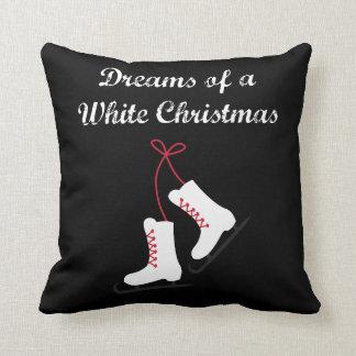 Almofada Sonhos do patinagem no gelo do White Christmas
