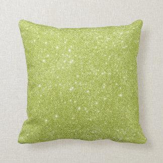 Almofada Sparkles do brilho do verde limão