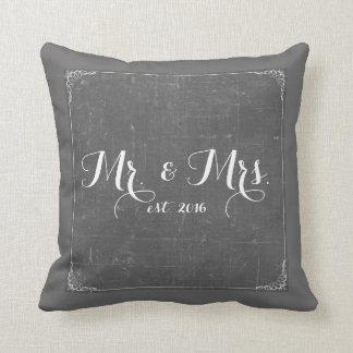 Almofada Sr. e Sra. travesseiro do quadro das cinzas de