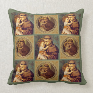Almofada St Anthony do bebê Jesus de Pádua