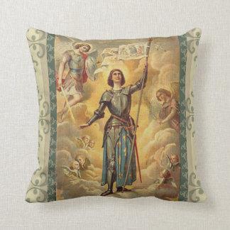 Almofada St. Joana do soldado dos anjos de St Michael do