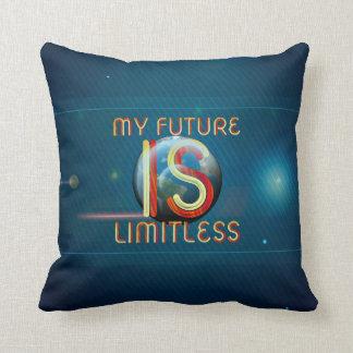 Almofada SUPERIOR meu futuro é ilimitado