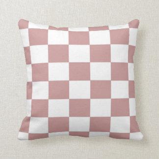 Almofada Tabuleiro de damas cor-de-rosa