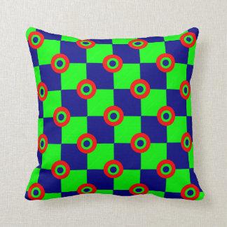 Almofada tabuleiro de xadrez verde