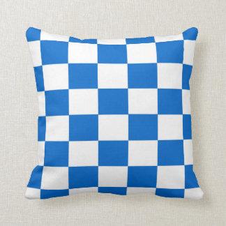 Almofada Tabuleiros de damas azuis e brancos