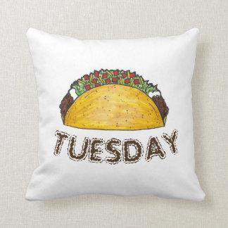 Almofada Tacos Foodie da comida de Tex Mex do mexicano de