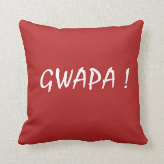 Almofada Tagalog do filipino de Cebuano do texto do gwapa
