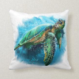 Almofada Tartaruga de mar verde