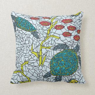 Almofada Tartarugas de mar do mosaico e travesseiro
