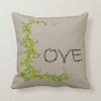 Almofada Taupe do travesseiro decorativo do verde da hera