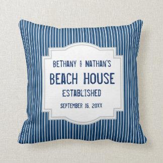 Almofada Tema azul da praia com listras A06