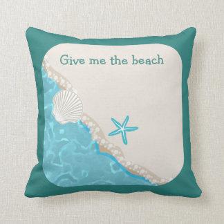 Almofada Tema bonito da praia