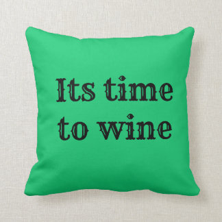 Almofada tempo do vinho