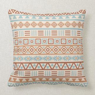 Almofada Terracottas astecas do azul do creme do teste