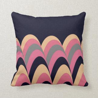 Almofada Teste padrão à moda azul amarelo cor-de-rosa