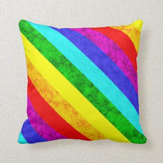 Almofada Teste padrão abstrato do arco-íris