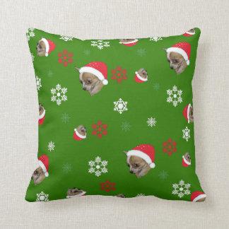 Almofada Teste padrão adorável do Natal da chihuahua