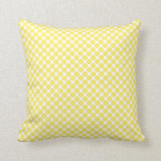 Almofada Teste padrão amarelo brilhante da fruta do limão