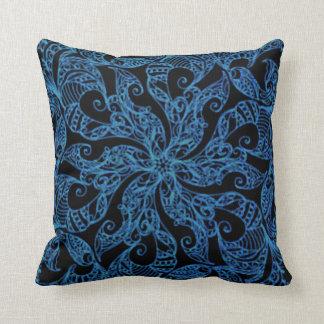 Almofada Teste padrão azul, decorativo, étnico,