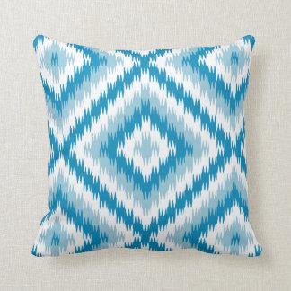 Almofada Teste padrão azul do diamante