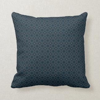 Almofada Teste padrão azul escuro simples