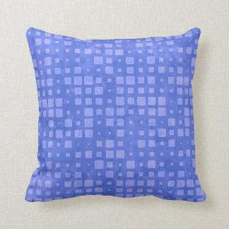 Almofada Teste padrão azul Minty dos quadrados