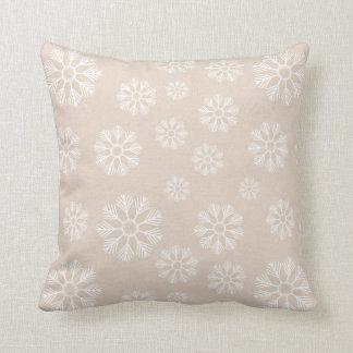 Almofada Teste padrão branco dos flocos de neve do inverno
