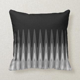 Almofada Teste padrão cinzento branco preto do ziguezague