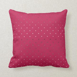 Almofada teste padrão de bolinhas cor-de-rosa do rosa do