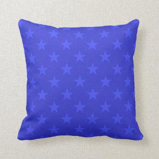 Almofada Teste padrão de estrelas azuis