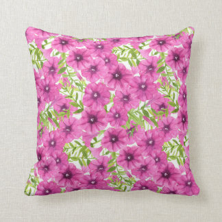 Almofada Teste padrão de flor cor-de-rosa do petúnia da